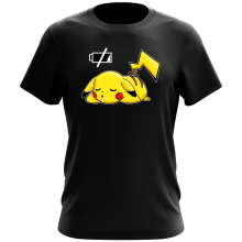 T-shirt  parodique Pikachu : Batterie à plat ! (Parodie )