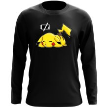 Funny Long Sleeve Tops - Pikachu - Battery Off ( Parody)