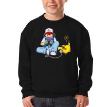 Pull Enfant  parodique Pikachu et Sasha Ketchum : Batterie de secours :) (Parodie )