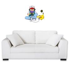 Sticker Mural  parodique Pikachu et Sasha Ketchum : Batterie de secours :) (Parodie )