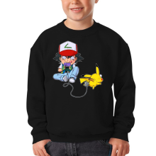 Sweat-shirts  parodique Pikachu et Sasha : Batterie de Secours (Super Deformed) (Parodie )