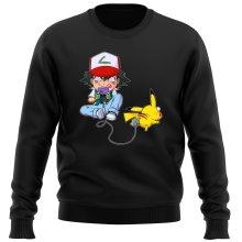 Pull  parodique Pikachu et Sasha : Batterie de Secours (Super Deformed) (Parodie )