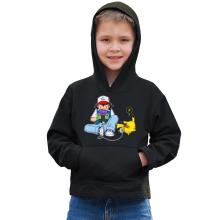 Sweat à capuche Enfant  parodique Pikachu et Sasha Ketchum : Batterie de secours :) (Parodie )