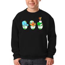 Sweat-shirts  parodique Bébé Yoshi face à Salamèche et Carapuce : Bizarre ces deux là !! (Parodie )