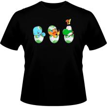 T-shirts  parodique Bébé Yoshi face à Salamèche et Carapuce : Bizarre ces deux là !! (Parodie )