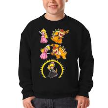 Sweat-shirts  parodique Princesse Peach;Bowser et Bowsette : Bowsette Fusion ! (Parodie )