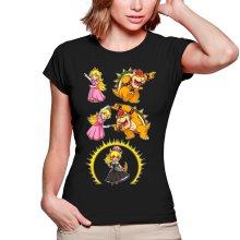 T-shirts Femmes  parodique Princesse Peach;Bowser et Bowsette : Bowsette Fusion ! (Parodie )