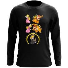 T-Shirt à manches longues  parodique Princesse Peach;Bowser et Bowsette : Bowsette Fusion ! (Parodie )
