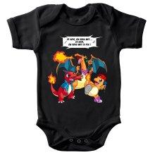 Body bébé  parodique Dracaufeu, Reptincel et Salamèche : Ce soir, on vous met le Feu ! (Parodie )