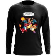 T-Shirt à manches longues  parodique Dracaufeu, Reptincel et Salamèche : Ce soir, on vous met le Feu ! (Parodie )