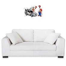 Décorations murales  parodique Mario 3D, Mario Pixel et la Delorean : De retour Vers le Futur... (Parodie )