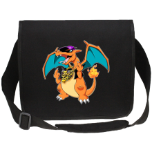 Sac bandoulière Canvas  parodique Jeux Vidéo - Parodie de Dracaufeu de Pokémon : DracauThug...! (Parodie )