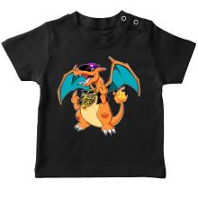 T-shirt bébé  parodique Jeux Vidéo - Parodie de Dracaufeu de Pokémon : DracauThug...! (Parodie )