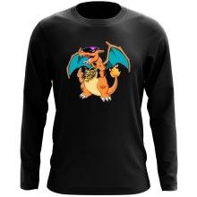 T-Shirt à manches longues  parodique Jeux Vidéo - Parodie de Dracaufeu de Pokémon : DracauThug...! (Parodie )