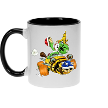 Mug  parodique Yoshi : Kart Fighter - Player 3 (Parodie )