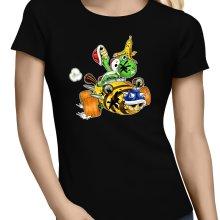 T-shirts Femmes  parodique Yoshi : Kart Fighter - Player 3 (Parodie )