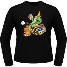 T-Shirts à manches longues  parodique Yoshi : Kart Fighter - Player 3 (Parodie )
