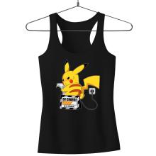 Débardeur Femme  parodique Pikachu : En Charge... Ne pas déranger ! (Parodie )