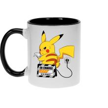 Mugs  parodique Pikachu : En Charge... Ne pas déranger ! (Parodie )