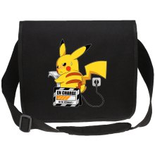 Sacs bandoulière Canvas (French Days)  parodique Pikachu : En Charge... Ne pas déranger ! (Parodie )
