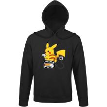 Sweat à capuche  parodique Pikachu : En Charge... Ne pas déranger ! (Parodie )