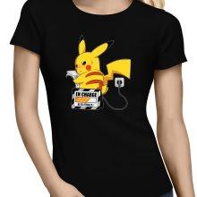 T-shirts Femmes  parodique Pikachu : En Charge... Ne pas déranger ! (Parodie )