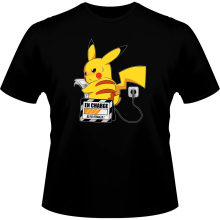 T-shirts (French Days)  parodique Pikachu : En Charge... Ne pas déranger ! (Parodie )
