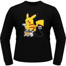 T-Shirts à manches longues  parodique Pikachu : En Charge... Ne pas déranger ! (Parodie )