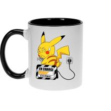 Mugs  parodique Pikachu : En charge... (Super Deformed) (Parodie )