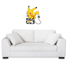 Décorations murales  parodique Pikachu : En charge... (Super Deformed) (Parodie )