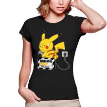 T-shirts Femmes  parodique Pikachu : En charge... (Super Deformed) (Parodie )