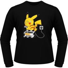 T-Shirts à manches longues  parodique Pikachu : En charge... (Super Deformed) (Parodie )