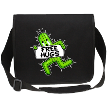 Funny Canvas Messenger Bag - Pampa - Free Hugs ( Parody)