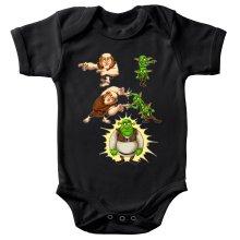 Funny  Baby Bodysuit - Giant, Gobelins and Shrek ( Parody) (Ref:894)