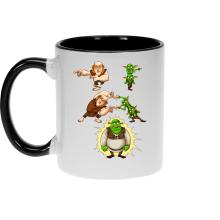 Mugs  parodique Shrek, les Gobelins et le Géant : Fusion Royale :) (Parodie )