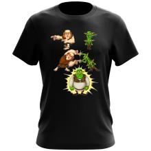 Funny  T-Shirt - Giant, Gobelins and Shrek ( Parody) (Ref:894)