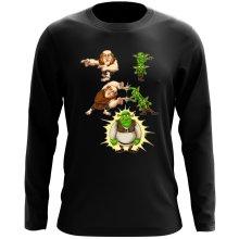 Funny  Long Sleeve Top - Giant, Gobelins and Shrek ( Parody) (Ref:894)