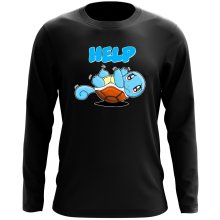 Funny  Long Sleeve Top - Squirtle ( Parody) (Ref:359)