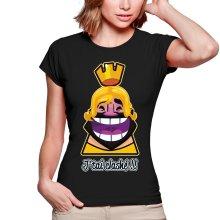T-shirts Femmes  parodique Le Roi de Clash Royale et Brice de Nice : J