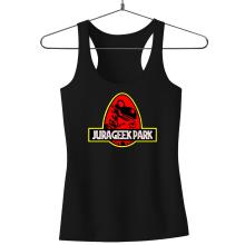 Débardeur Femme  parodique Yoshi et Jurassic Park : Jurageek Park ! (Parodie )
