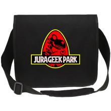 Sacs bandoulière Canvas  parodique Yoshi et Jurassic Park : Jurageek Park ! (Parodie )