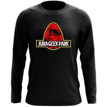 T-Shirt à manches longues  parodique Yoshi et Jurassic Park : Jurageek Park ! (Parodie )