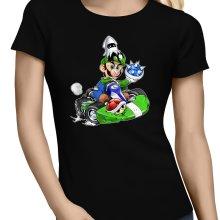 T-shirts Femmes  parodique Luigi : Kart Fighter - Player 2 (Parodie )