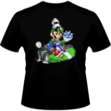 T-shirts  parodique Luigi : Kart Fighter - Player 2 (Parodie )
