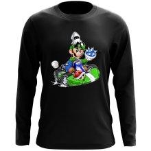 T-Shirt à manches longues  parodique Luigi : Kart Fighter - Player 2 (Parodie )
