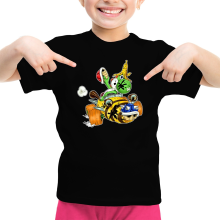 T-shirt Enfant Fille  parodique Yoshi : Kart Fighter - Player 3 (Parodie )