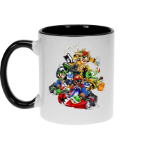 Mugs  parodique Mario, Luigi, Yoshi et Bowser : Kart Fighter Racing (Parodie )