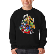 Sweat-shirts  parodique Mario, Luigi, Yoshi et Bowser : Kart Fighter Racing (Parodie )