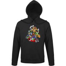 Sweat à capuche  parodique Mario, Luigi, Yoshi et Bowser : Kart Fighter Racing (Parodie )