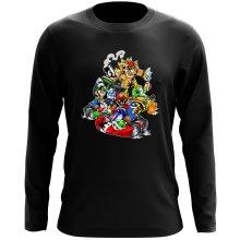 T-Shirt à manches longues  parodique Mario, Luigi, Yoshi et Bowser : Kart Fighter Racing (Parodie )